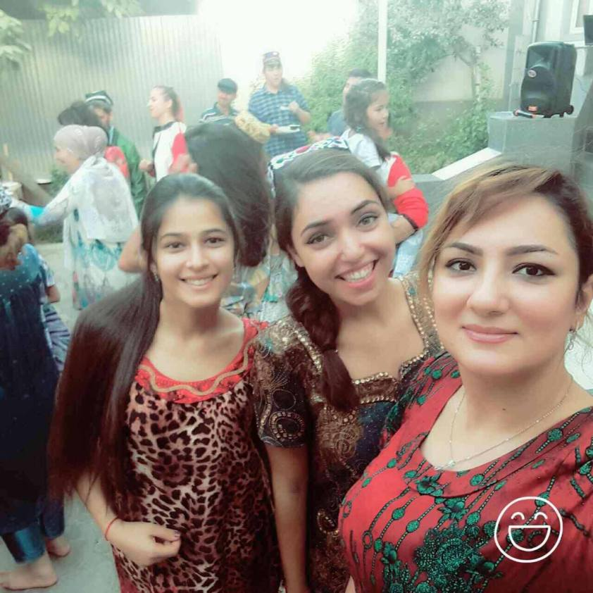 That's (in order from left to right) my cousin, me and my sister in traditional dress