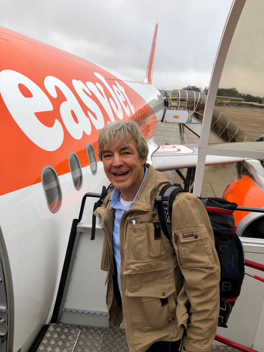 uTalk Chairman Dick Howeson boards easyJet to trial Learn as you Fly project 1